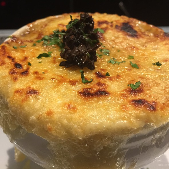 French Onion Soup With Truffles, Short Ribs And Egg