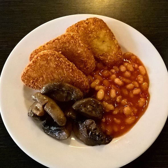 Hash Browns, Mushrooms and Beans
