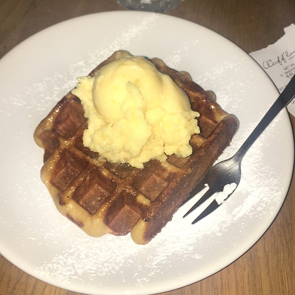 Waffle And Apricot Ice-Cream