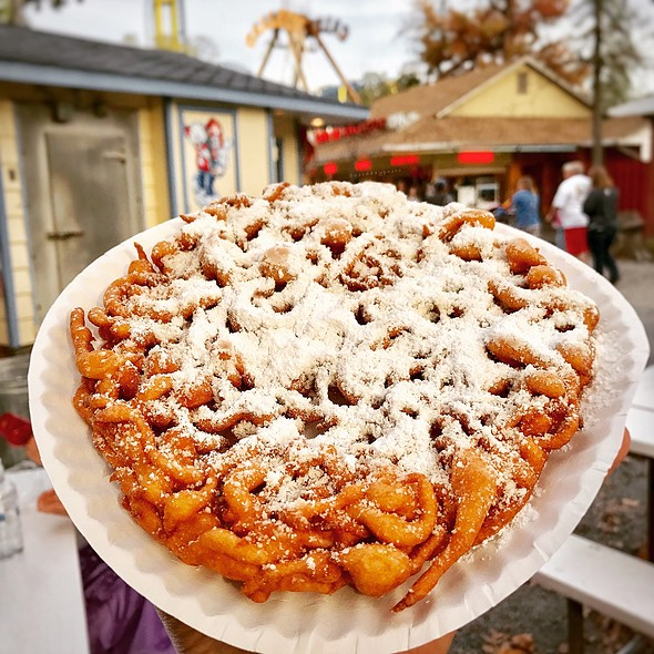 Pumpkin Funnel Cake @ Knoebels Amusement Resort