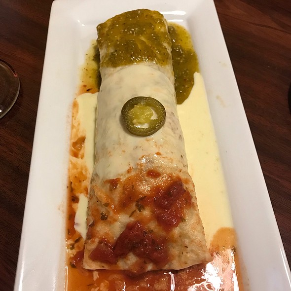 Burrito Bandera @ Las Palmas Mexican Restaurant
