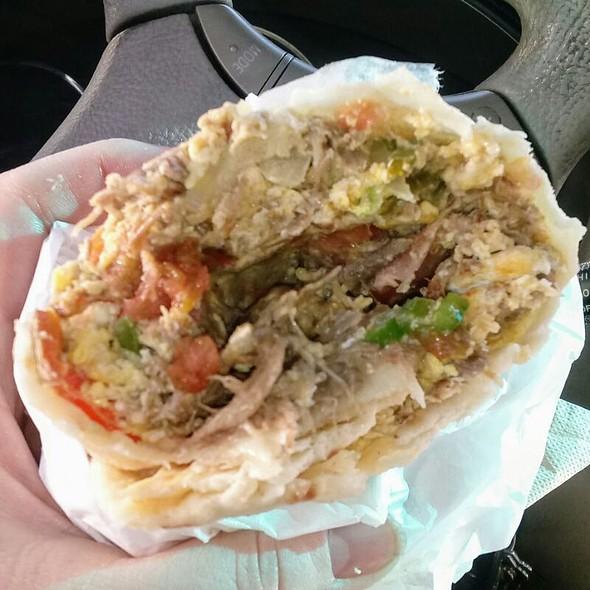 Machaca And Egg Breakfast Burrito