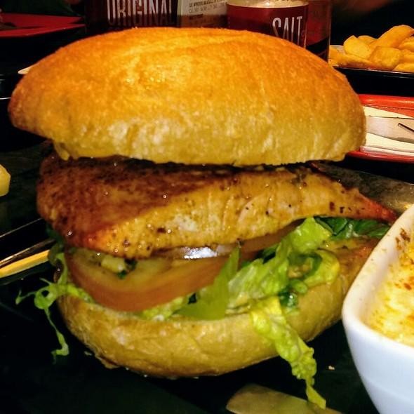 Citrus Harissa Salmon Burger