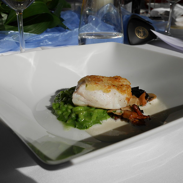 Turbot with Lemon Crust, Herb Risotto, Mushrooms