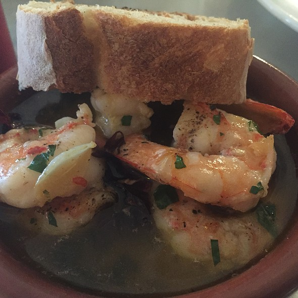 Gambas Shrimp with Olive Oil, Garlic, Chili, Lemon, and Parsely