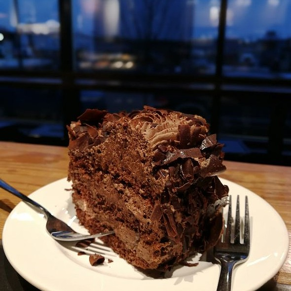 Chocolate Mousse Cake @ Avenue Cafe, Fort McMurray