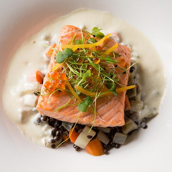Slow-Roasted North Atlantic Salmon @ Paramour at Wayne Hotel