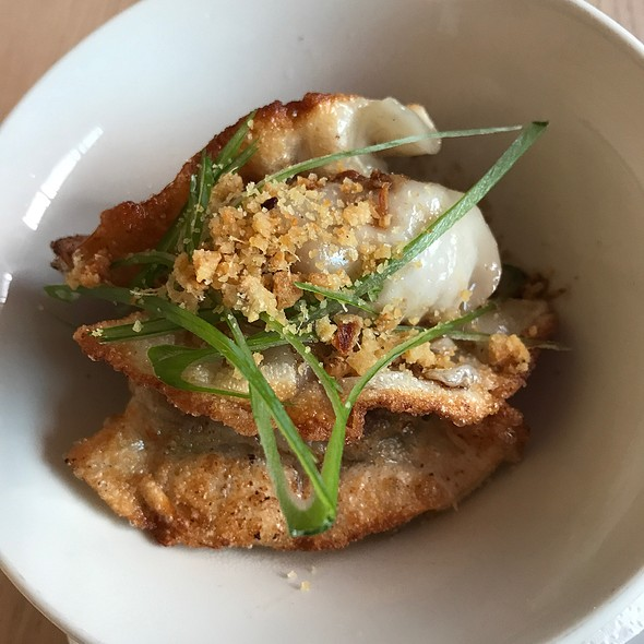 Fried pork and prawn dumplings