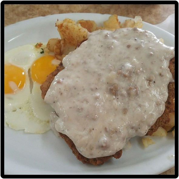 Country Fried Steak And Eggs With Country Potatoes