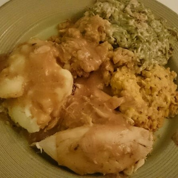 Early Thanksgiving Dinner Plate @ Home