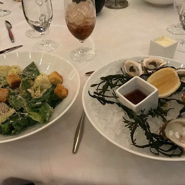 Caesar Salad And Oysters