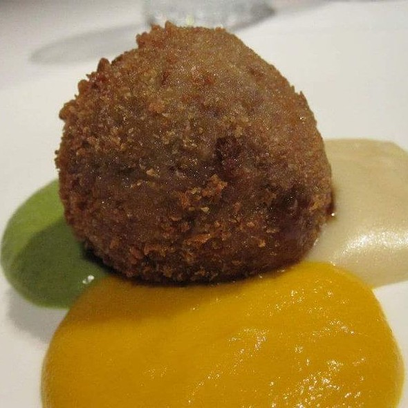 Croulant Meatball, Potato Parmentier, Carrot, And Zucchini