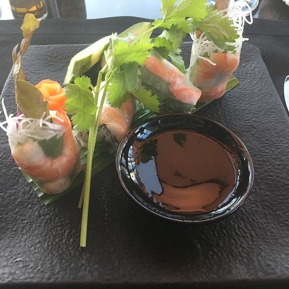 Shrimp Spring Roll with Black Radish and Dark Soy Sauce
