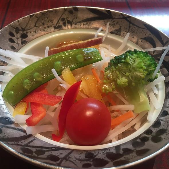 Snap Pea, Cabbage, Tomato, Potato, Pepper, and Broccoli Salad