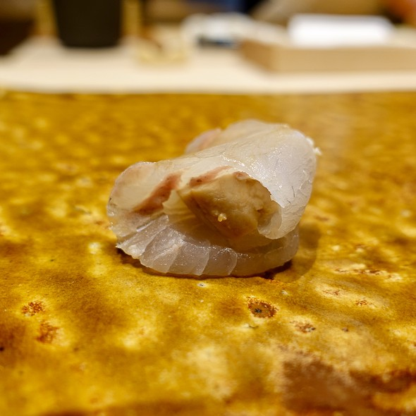 Hirame with Ankimo (Flounder with Monkfish Liver)