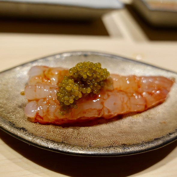 Shima Ebi (Striped Shrimp) with Shrimp Roe and Anchovy