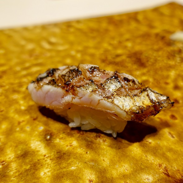 Torched Japanese Barracuda Nigiri