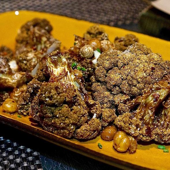 Roasted cauliflower, chili, parmesan