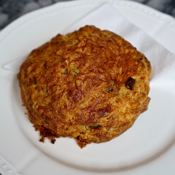 Gruyère cheese and green onion scone