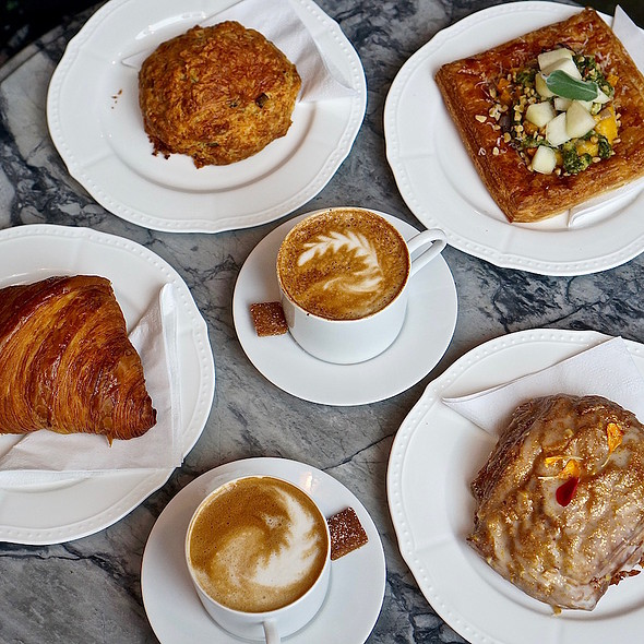 Cappuccino And Pastries @  Beaucoup Bakery and Cafe
