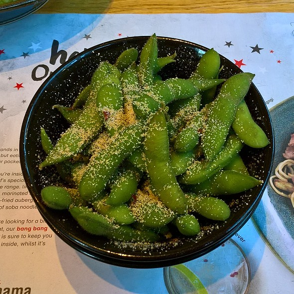 Edamame with Garlic Salt and Chilli