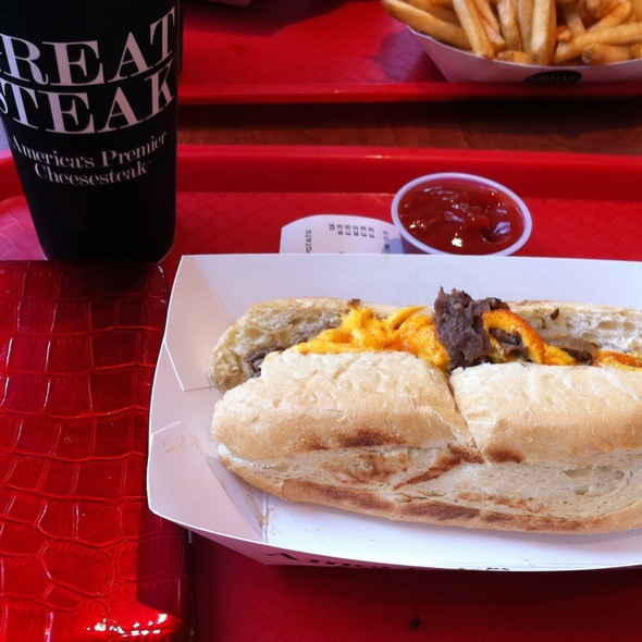 Original Philly Cheesesteak Sandwich @ Great Steak and Potato Co the