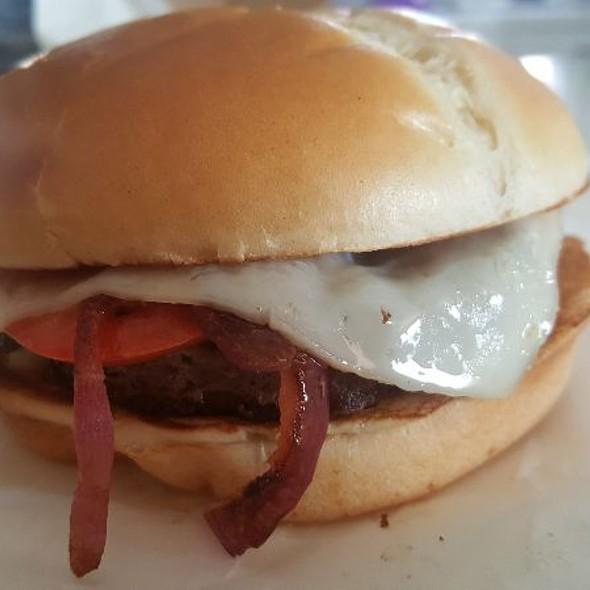 Ribeye Burger With Cheese, Mushroom, And Onion