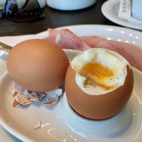 Soft Boiled Eggs And Ham