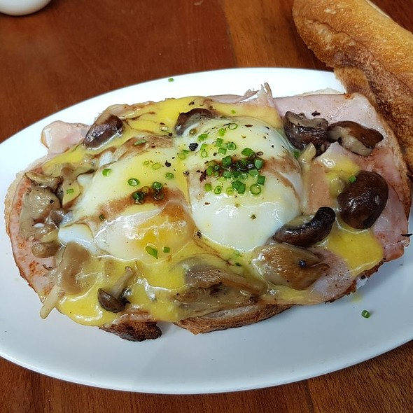 Ham, Mushrooms And Eggs On Toast