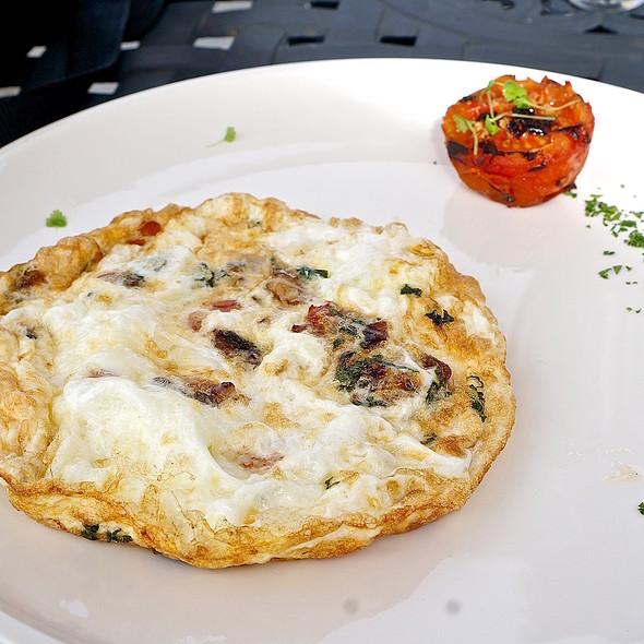 Egg white frittata, tomato, mushrooms, local parmesan