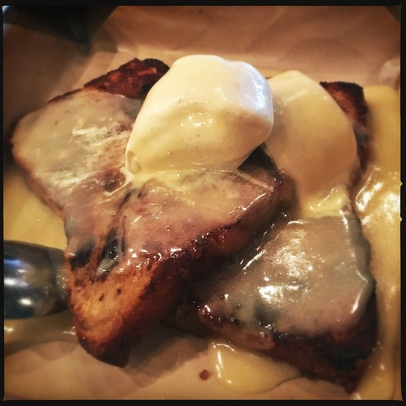 Bread Pudding A La Mode @ Hops & Pie