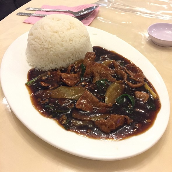 Spring Onion Ginger Beef With Rice