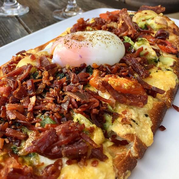 Ham And Egg Flatbread @ Haven Gastropub
