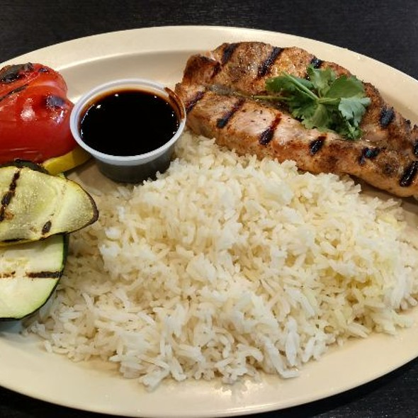 Spicy Teriyaki Salmon Rice Plate