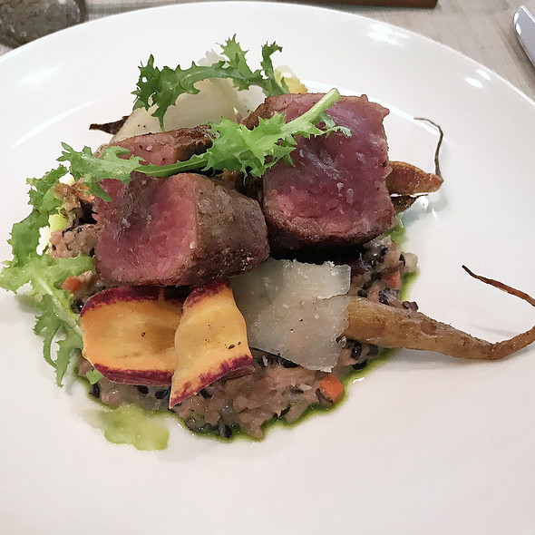 THREE GRAIN RISOTTO WITH DRY AGED BEEF @ Pai Honolulu