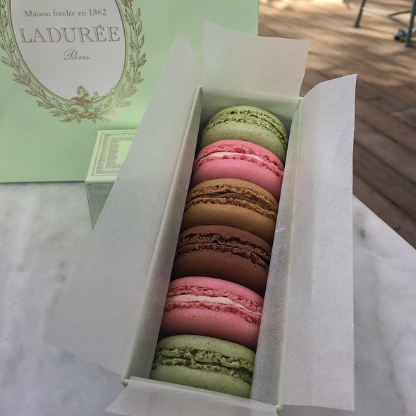 Pistachio, Rose, Chocolate, Coffee @ Ladurée The Grove