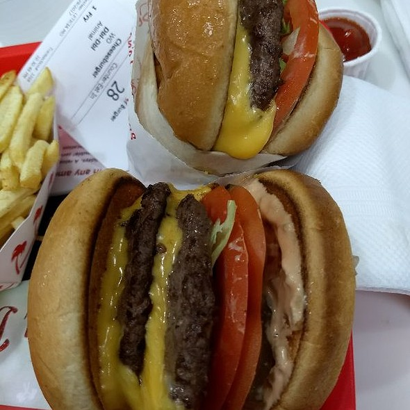 Double Double Animal Style Cheeseburger With Fries