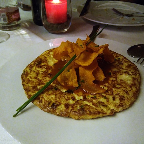 Tortilla de merluza de pincho y puerros @ The Geographic Club