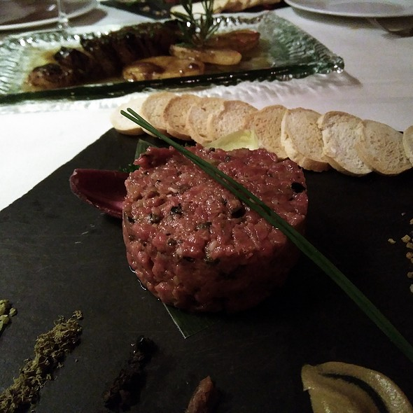 Steak tartar de solomillo de vaca @ The Geographic Club