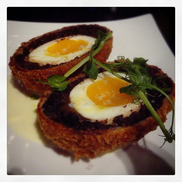 Scotch Egg With Stornoway Black Pudding And Hollandaise Sauce