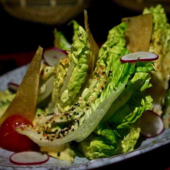 Japanese leaf salad, avocado, radish, campari tomato, aka-dashi miso dressing