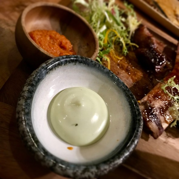 Wasabi aioli & ginger flower sambal