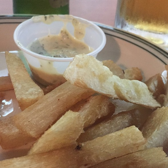 Yuca Fries With Secret Cilantro Sauce @ La Carreta Restaurant