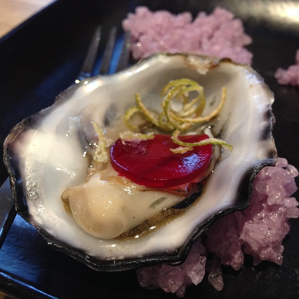 Oyster with Beetroot Jelly and Crispy Lime