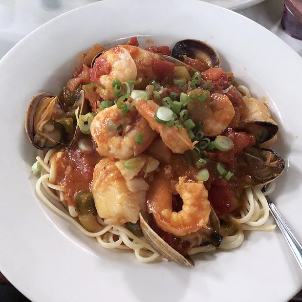 Seafood Cioppino over Linguine