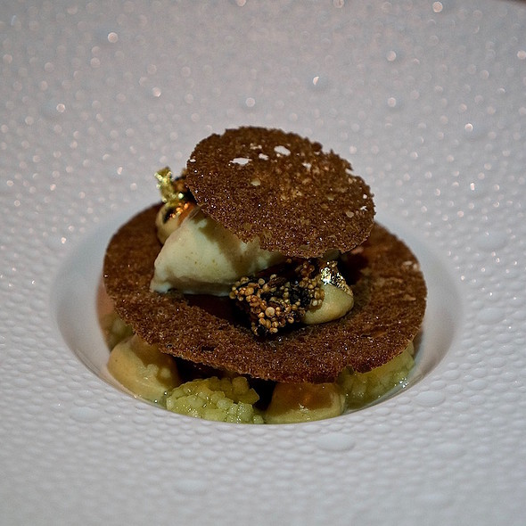Sour apple, gianduja, sourdough, sourdough ice cream