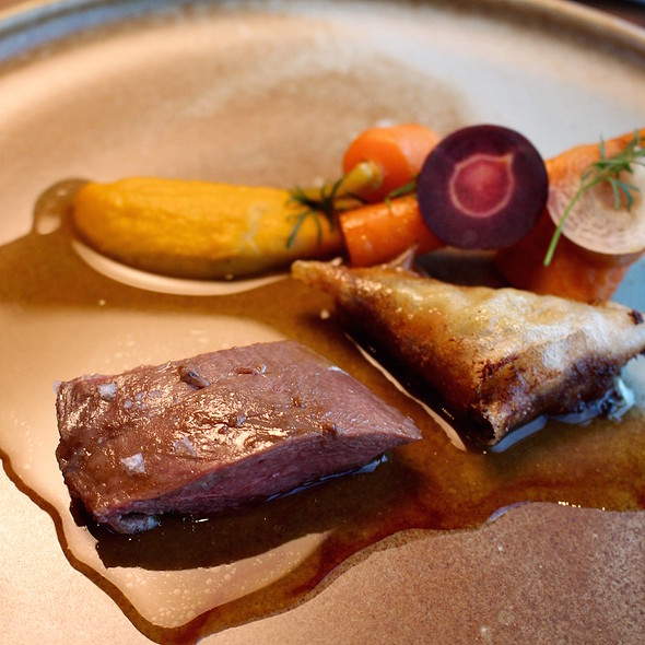 Cage duck (varnished), young carrot, tamarind and cumin & garam masala @ VANE Restaurant & Skybar