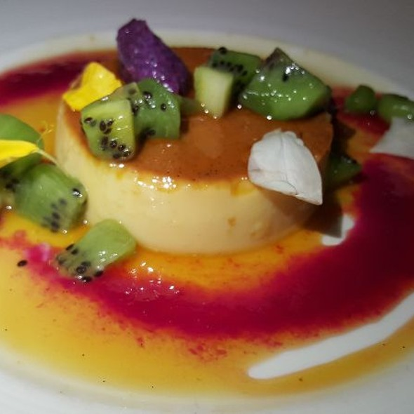 Flan With Kiwi And Cactus Pear
