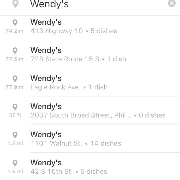 Bug 1 @ Wendy's