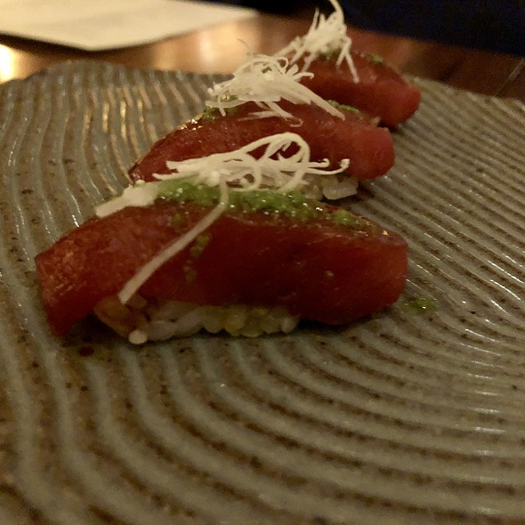 Bluefin Toro Nigiri with Republic of Georgia Herb Sauce